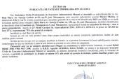 Vanzare teren Gardani – Extras publicatie vanzare imobiliara, din data de 29. 12. 2014