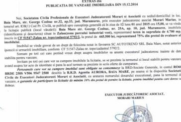 Vanzare teren in Zalau – Extras publicatie vanzare imobiliara, din data de 19. 12. 2014