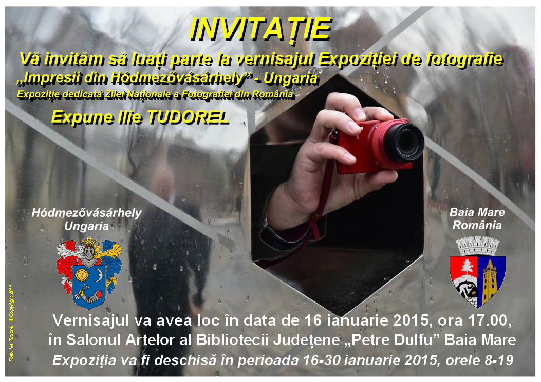 INVITATIE EXPO FOTO ILIE TUDOREL 16.01.2015