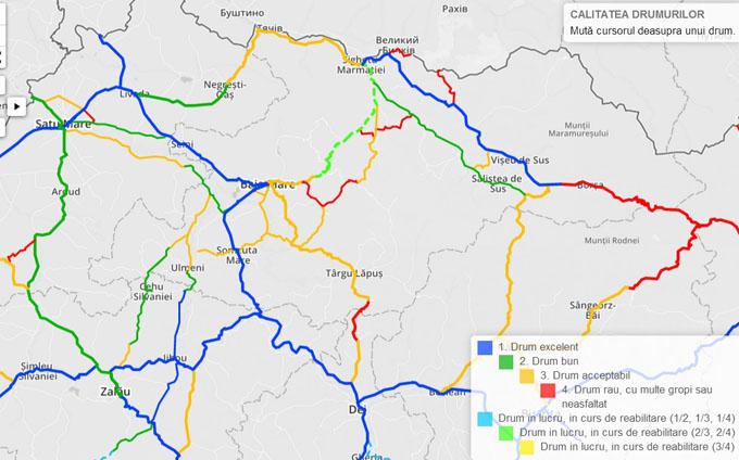 Cum Arata Maramuresul Pe Harta Calitatii Drumurilor Din Romania