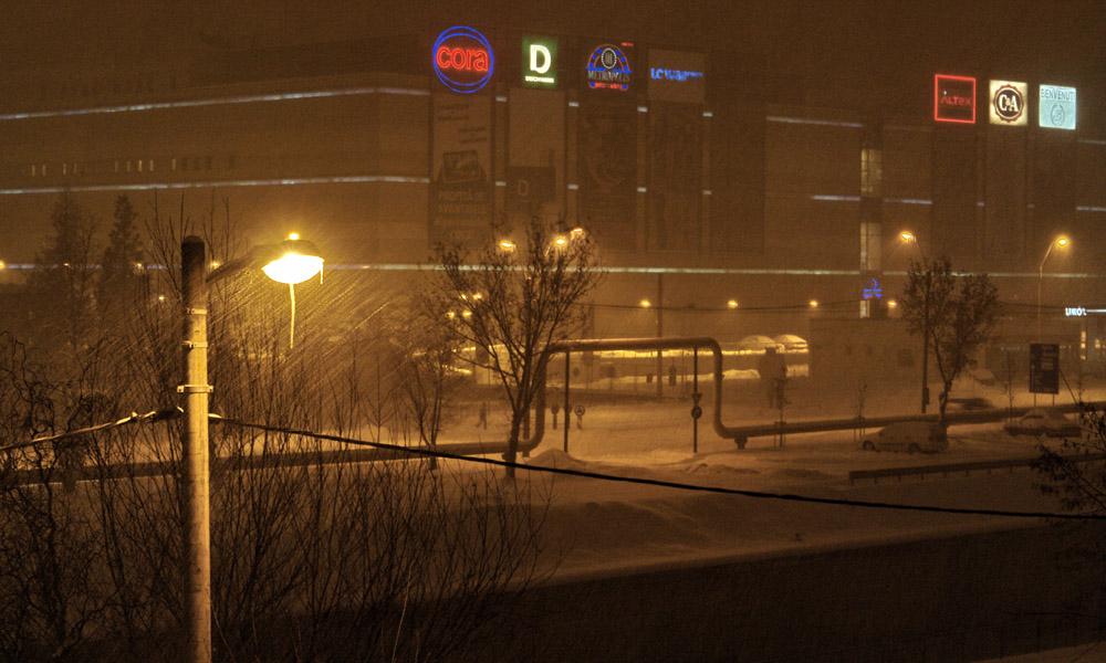 gold plaza baia mare ninsoare zapada raul sasar