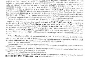 Vanzare teren si casa in Moisei – Extras publicatie vanzare imobiliara, din data de 22. 01. 2015