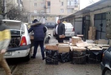 Exclusiv: Tigari de contrabanda, confiscate dintr-un garaj din Baia Mare (FOTO)