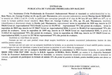 Vanzare terenuri in Ocolis – Extras publicatie vanzare imobiliara, din data de 19. 02. 2015