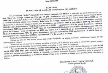 Vanzare teren in Grosi – Extras publicatie vanzare imobiliara, din data de 05. 03. 2015