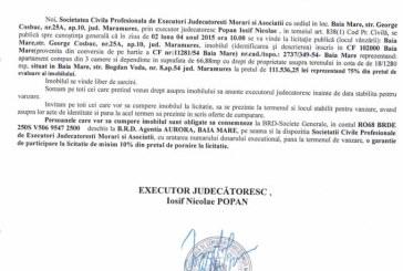 Vanzare apartament in Baia Mare – Extras publicatie vanzare imobiliara, din data de 12. 03. 2015
