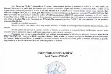 Vanzare teren in Baia Mare – Extras publicatie vanzare imobiliara, din data de 24. 03. 2015