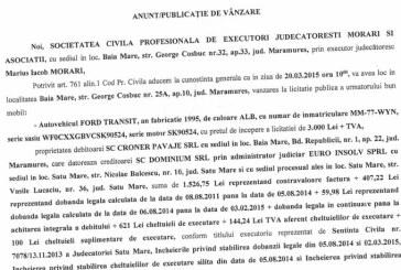 Vanzare Ford Transit – Extras publicatie vanzare imobiliara, din data de 05. 03. 2015