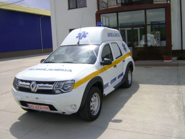 Dacia Duster ambulanta, o noua oferta pentru serviciile de urgenta