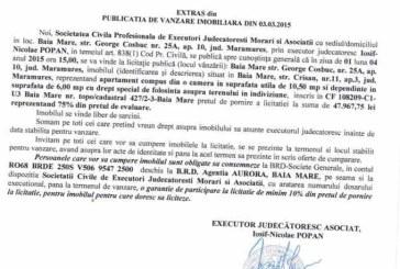Vanzare apartament in Baia Mare – Extras publicatie vanzare imobiliara, din data de 05. 03. 2015