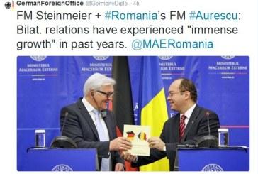 Gafa diplomatica la MAE. Ministrul german de Externe a primit o harta a Frantei cu drapelul german