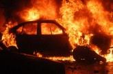 UPDATE: O masina a ars ca o torta, la Satulung