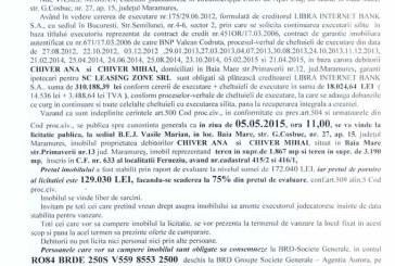 Vanzare teren in Ferneziu – Extras publicatie vanzare imobiliara, din data de 22. 04. 2015