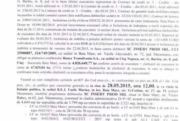 Vanzare terenuri in Baia Mare – Extras publicatie vanzare imobiliara, din data de 27. 04. 2015