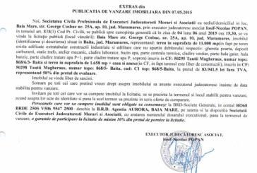 Vanzare casa si teren in Baita – Extras publicatie vanzare imobiliara, din data de 13. 05. 2015