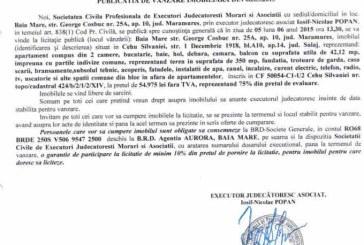Vanzare apartament in Cehu Silvaniei – Extras publicatie vanzare imobiliara, din data de 13. 05. 2015