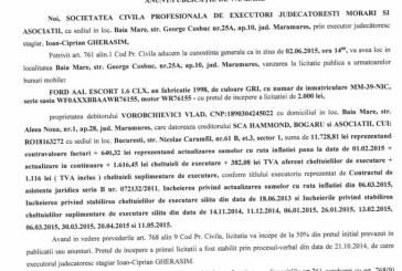 Vanzare Ford Escort – Extras publicatie vanzare imobiliara, din data de 18. 05. 2015
