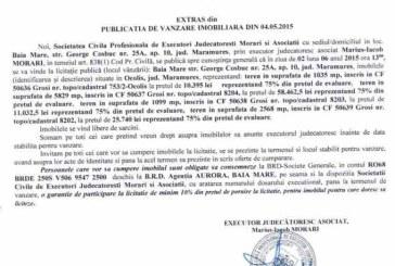 Vanzare teren in Grosi – Extras publicatie vanzare imobiliara, din data de 08. 05. 2015
