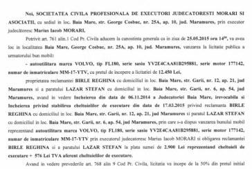 Vanzare autoutilitara – Extras publicatie vanzare imobiliara, din data de 19. 05. 2015