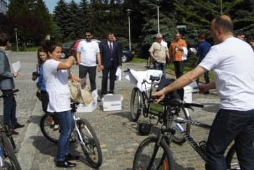 Zilele Maramuresului: Delegatia Ungariei cu bicicleta prin Baia Mare