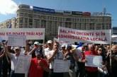 Sindicalistii din administratie, miting de protest la Parlament