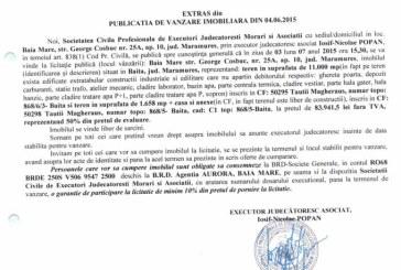 Vanzare teren in Tautii Magheraus – Extras publicatie vanzare imobiliara, din data de 08. 06. 2015