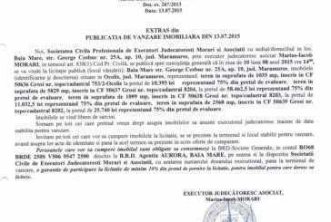 Vanzare terenuri in Grosi – Extras publicatie vanzare imobiliara, din data de 14. 07. 2015
