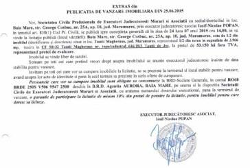 Vanzare teren in Tautii Magheraus – Extras publicatie vanzare imobiliara, din data de 01. 07. 2015