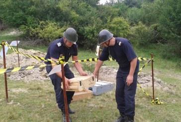 Munitie neexplodata, distrusa de pirotehnistii de la ISU Maramures