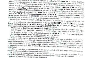 Vanzare teren in Baia Mare – Extras publicatie imobiliara, din data de 27. 08. 2015