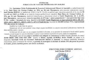Vanzare casa in Tautii Magheraus – Extras publicatie vanzare imobiliara, din data de 11. 08. 2015