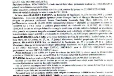 Vanzare casa in Sacalaseni – Extras publicatie vanzare imobiliara, din data de 12. 08. 2015