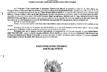 Vanzare casa in Somcuta Mare – Extras publicatie imobiliara, din data de 23. 09. 2015