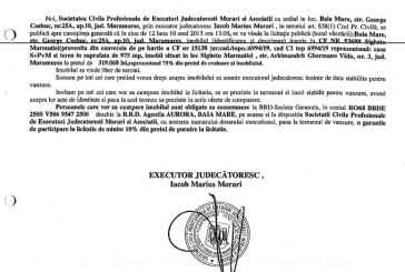 Vanzare casa si teren in Sighetu Marmatiei – Extras publicatie imobiliara, din data de 23. 09. 2015