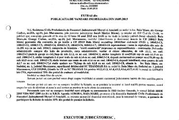 Vanzare hala si depozit in Baia Mare – Extras publicatie imobiliara, din data de 25. 09. 2015