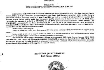 Vanzare teren in Zalau – Extras publicatie imobiliara, din data de 30. 09. 2015