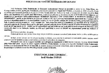 Vanzare apartament si teren in Zalau – Extras publicatie imobiliara, din data de 30. 09. 2015