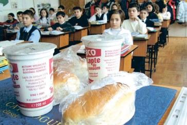 """Programul  """"lapte si corn in scoli"""", incepand cu 1 noiembrie"""
