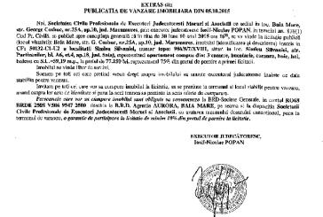 Vanzare apartament in Simleul Silvaniei – Extras publicatie imobiliara, din data de 07. 10. 2015