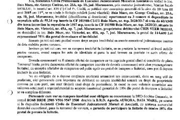 Vanzare teren si apartament in Baia Mare – Extras publicatie imobiliara, din data de 22. 10. 2015