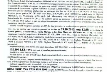 Vanzare apartament in Sighetu Marmatiei – Extras publicatie imobiliara, din data de 06. 10. 2015