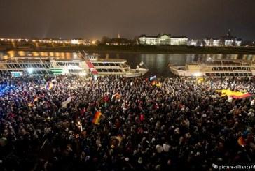 Mii de persoane au manifestat la Dresda contra refugiatilor