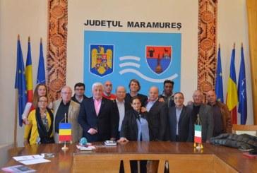 Delegatie din Italia, in vizita la prefectul Rohian