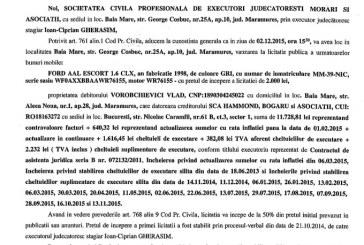 Vanzare Ford Escort – Extras publicatie imobiliara, din data de 17. 11. 2015