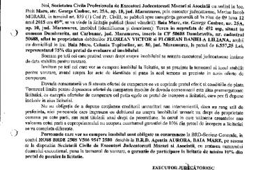 Vanzare terenuri in Cernesti – Extras publicatie imobiliara, din data de 20. 11. 2015