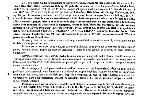 Vanzare statie de betoane si depozit – Extras publicatie imobiliara, din data de 20. 11. 2015