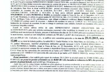 Vanzare apartament in Viseu de Sus – Extras publicatie imobiliara, din data de 04. 11. 2015
