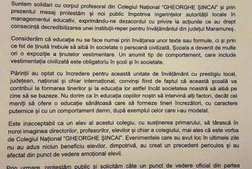 """Asociatia de Parinti a Colegiului """"Gheorghe Sincai"""" cere explicatii: """"Suntem revoltati"""""""