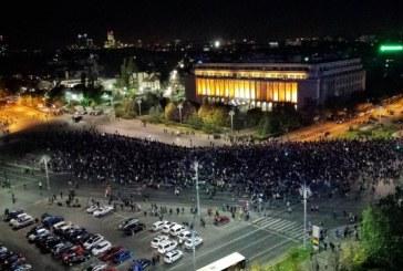 Piata Victoriei a fost blocata de protestatari