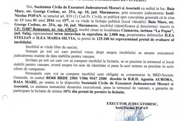 Vanzare teren in Ciumarna – Extras publicatie imobiliara, din data de 09. 12. 2015